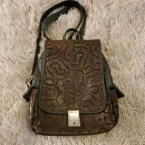 Beautiful brown leather Red Capsicum backpack